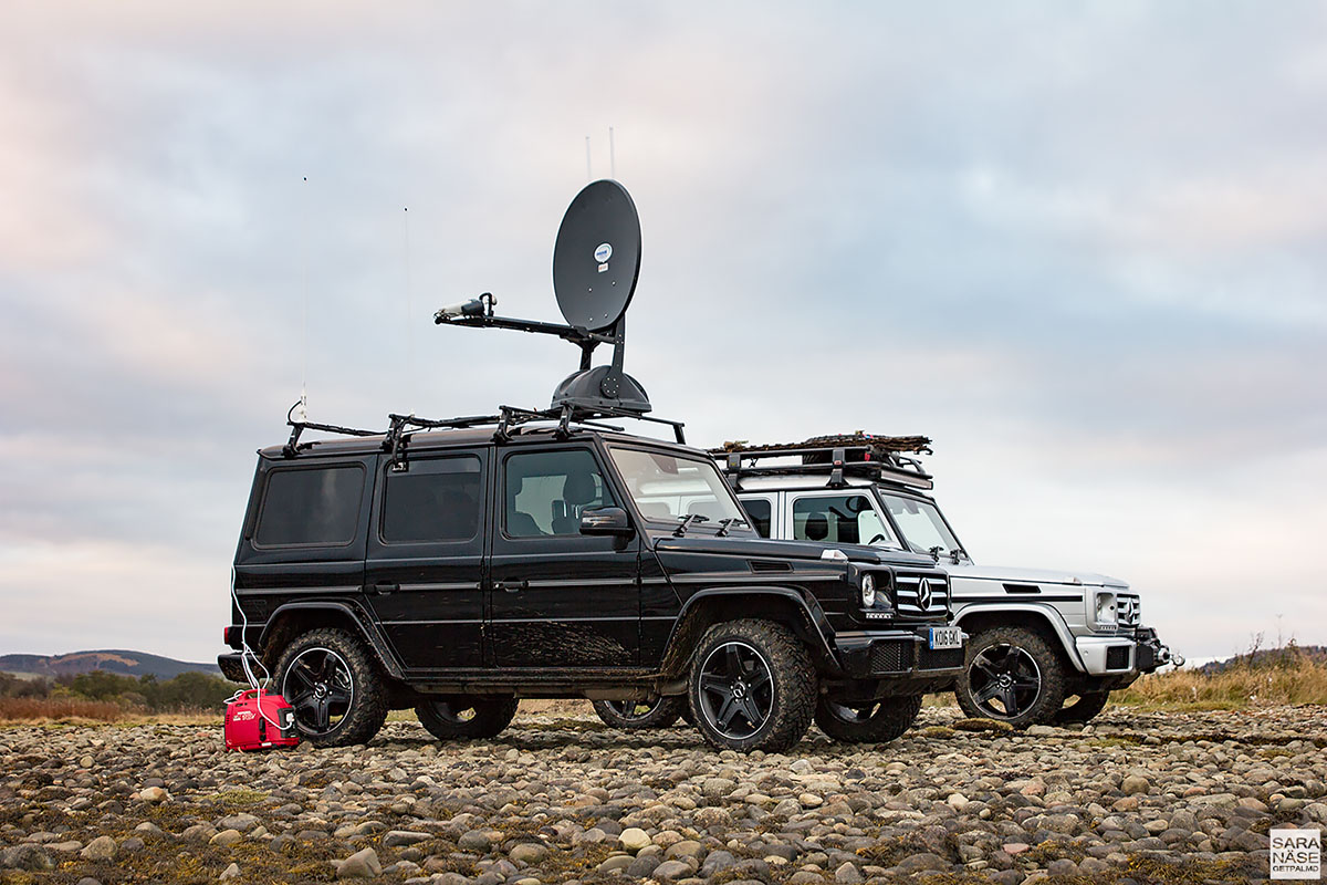 Mercedes-Benz G-Wagen WiFi and coffee machine