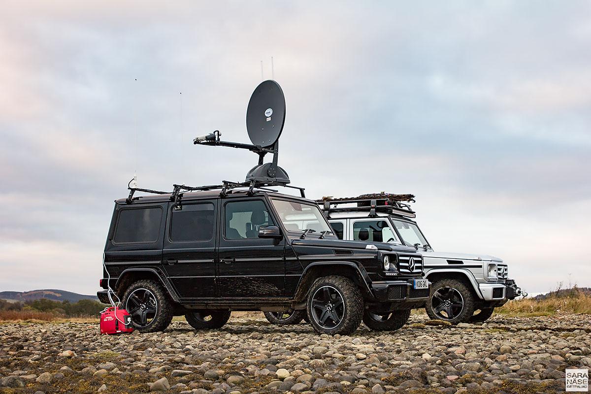 Mercedes-Benz G-Wagen WiFi and coffee machine