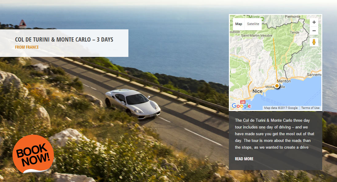 Col de Turini & Monte Carlo - the world's greatest driving roads in the best driver's cars - Colcorsa