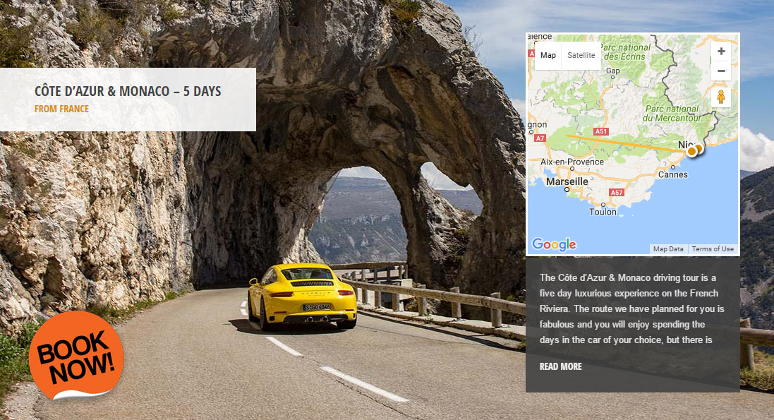 Côte d'Azur & Monaco - the world's greatest driving roads in the best driver's cars - Colcorsa
