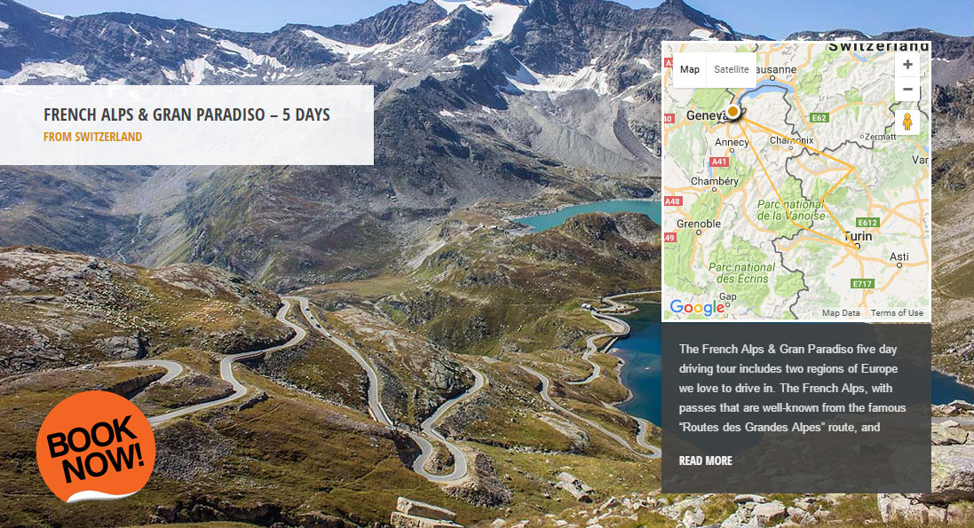 French Alps & Gran Pardiso - the world's greatest driving roads in the best driver's cars - Colcorsa
