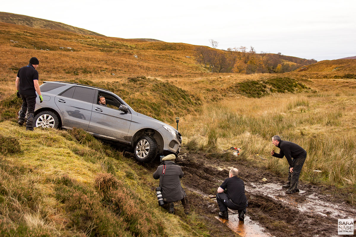 Off Road In A Mercedes Benz G Wagen In Scottish Highlands