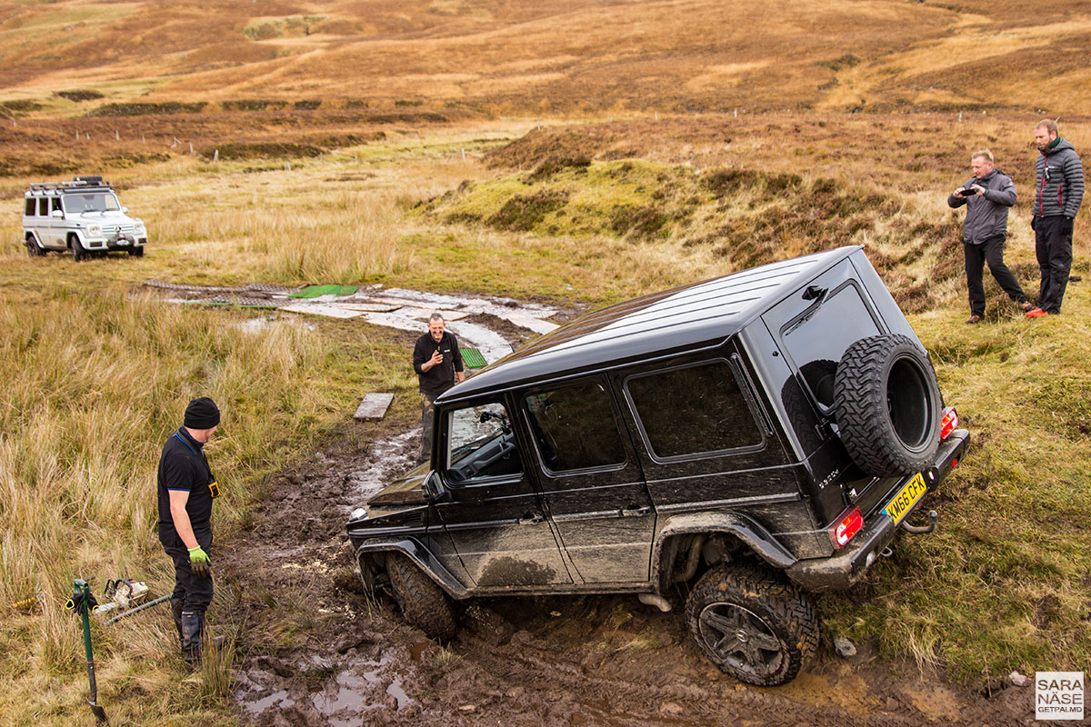 Off road in a mercedes benz g wagen in scottish highlands for Mercedes benz g class off road