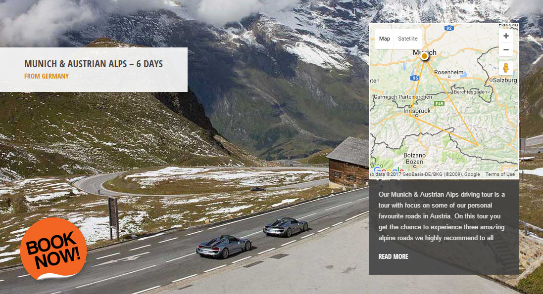 Munich & Austrian Alps - the world's greatest driving roads in the best driver's cars - Colcorsa