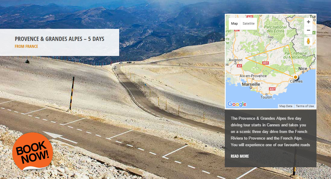 Provence & Grandes Alpes - the world's greatest driving roads in the best driver's cars - Colcorsa