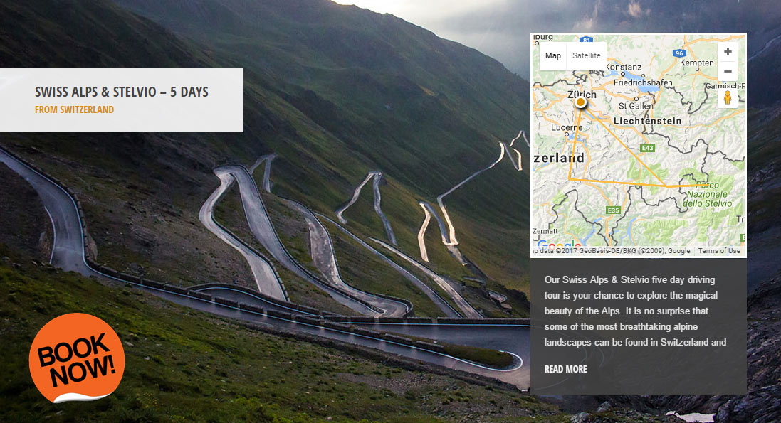 Swiss Alps & Stelvio - the world's greatest driving roads in the best driver's cars - Colcorsa