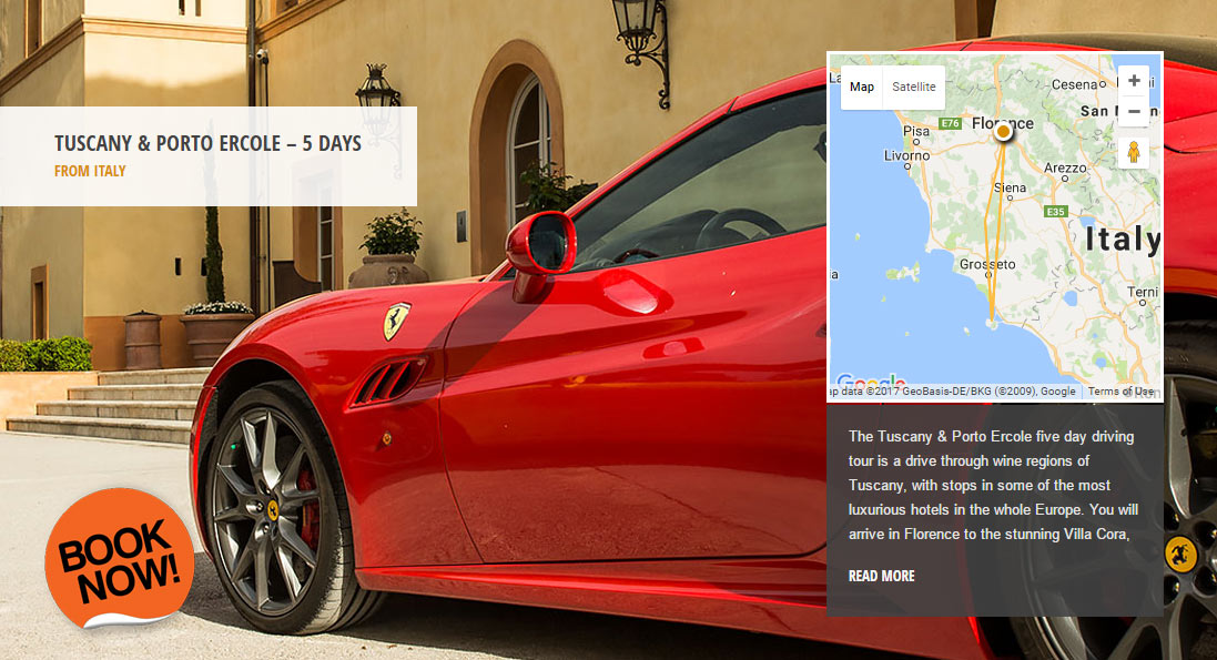 Tuscany & Porto Ercole - the world's greatest driving roads in the best driver's cars - Colcorsa