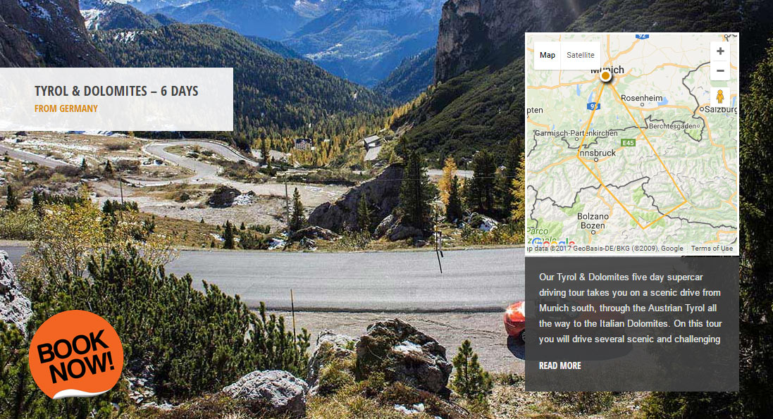 Tyrol & Dolomites - the world's greatest driving roads in the best driver's cars - Colcorsa