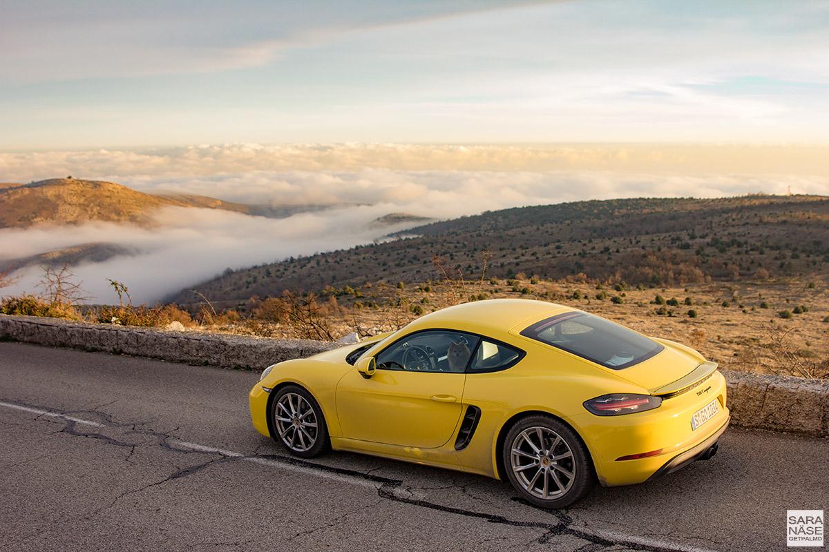Porsche 718 Cayman - Col de Vence France