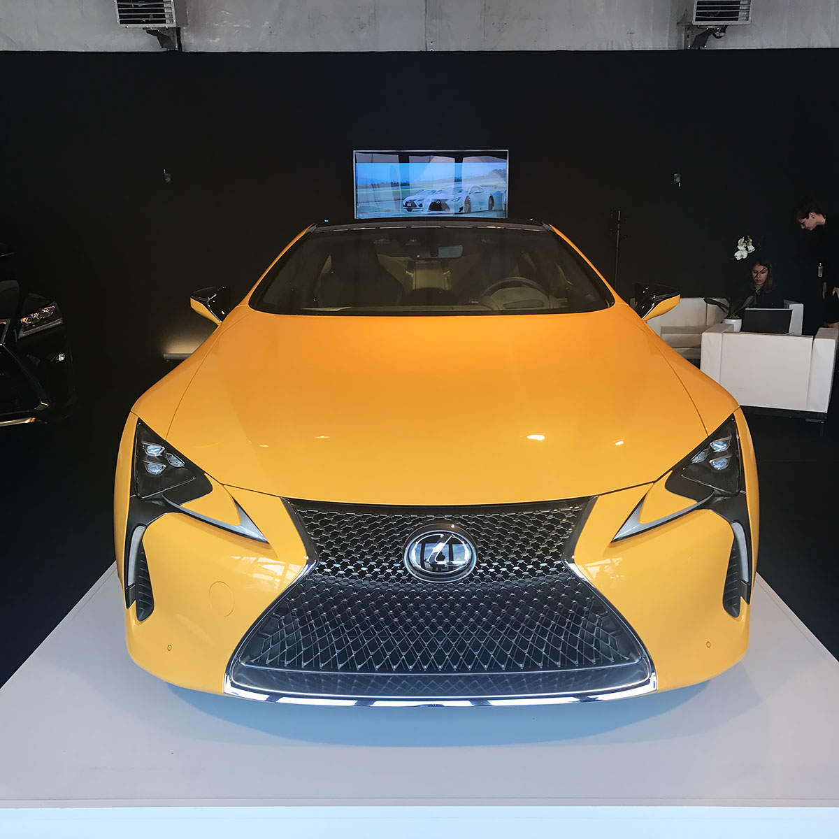 Monaco International Motor Show 2017 - Lexus LC 500 Coupe yellow