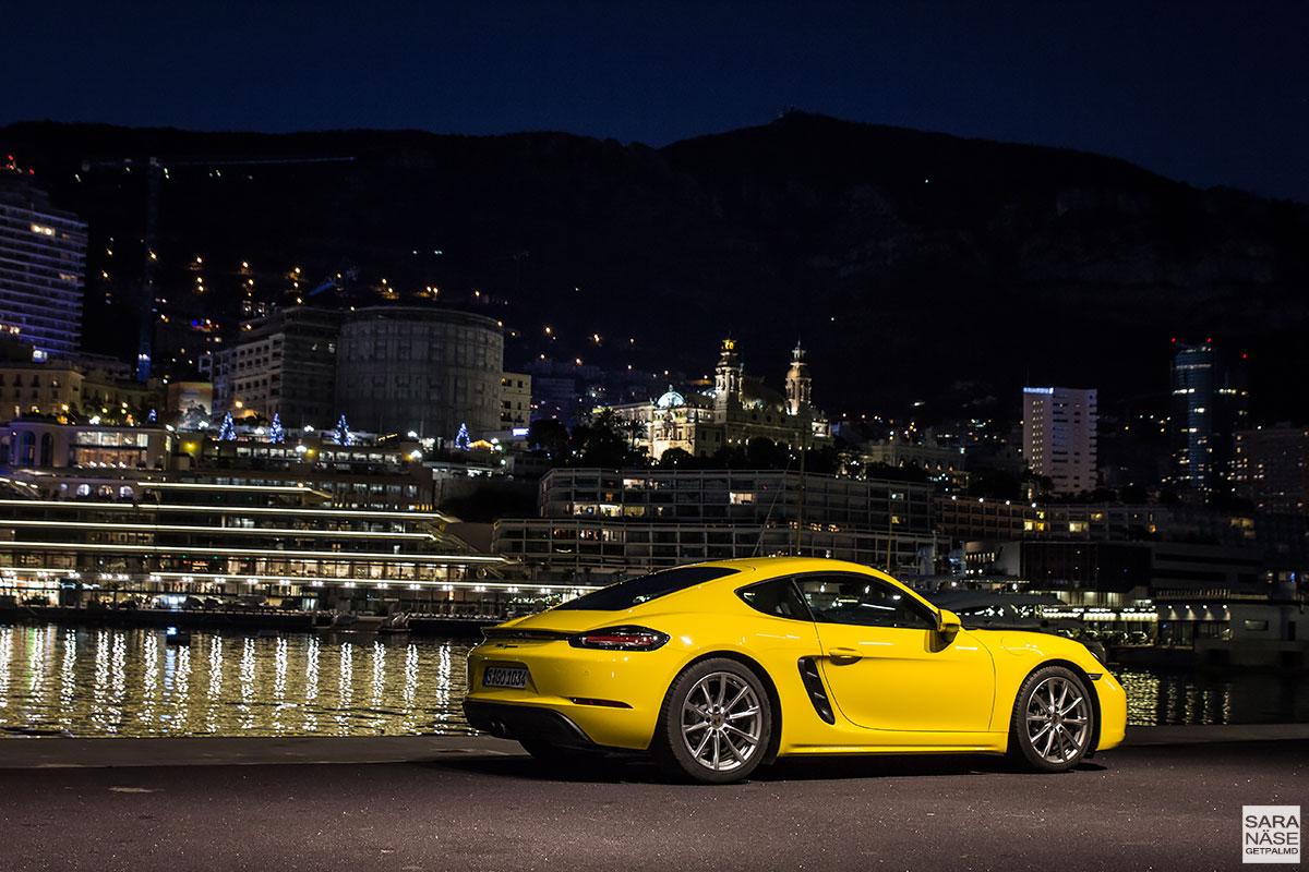 Porsche 718 Cayman - racing yellow in Monaco