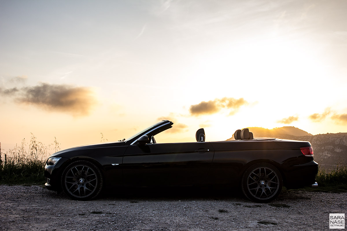 BMW Convertible Cabriolet sunset Monaco
