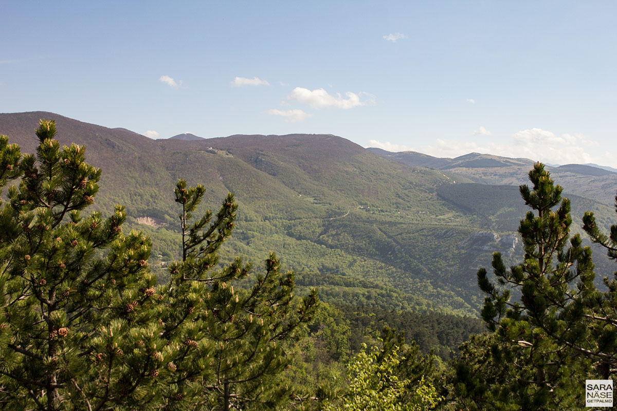 Mountain landscape Croatia