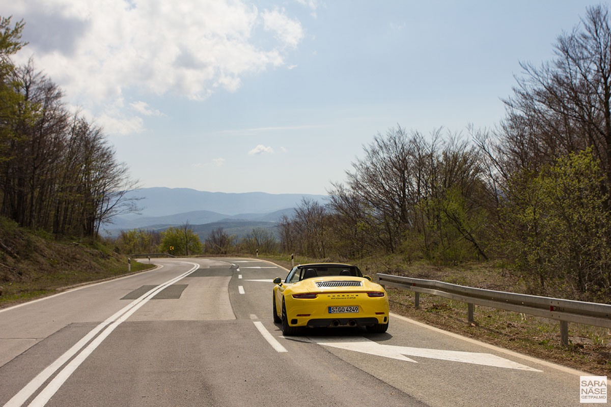 Porsche road trip in Croatia