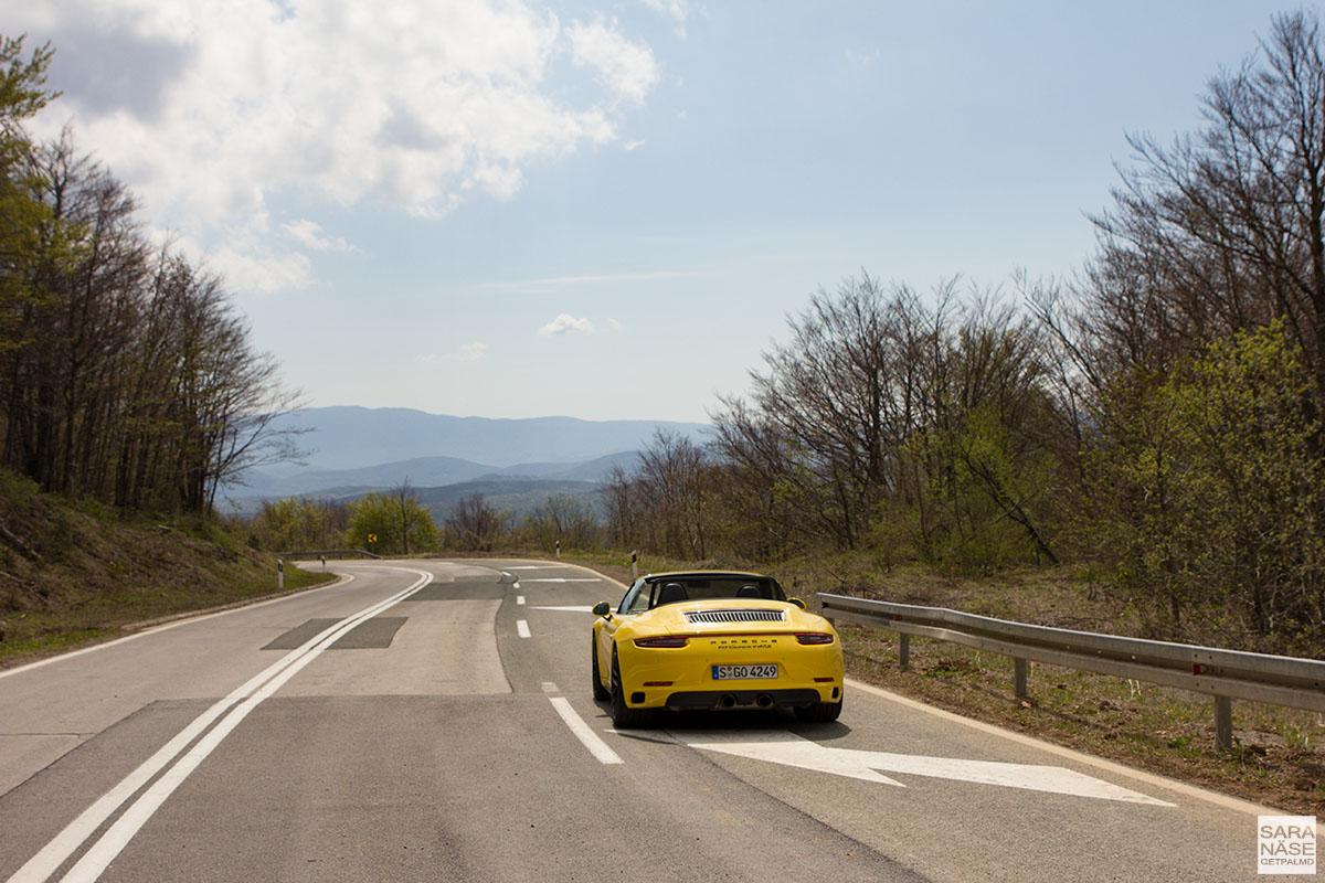 Porsche road trip in Croatia