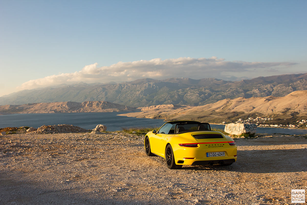 Pag Island - Croatia in a Porsche
