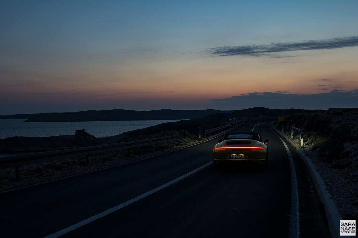 Island of Pag - Porsche 911 Carrera 4 GTS Cabriolet