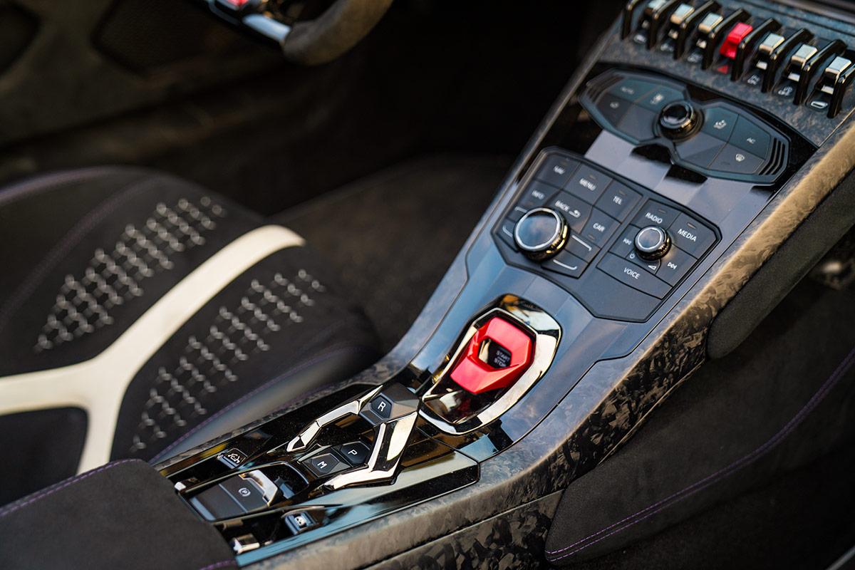 Lamborghini Huracan Performante Spyder - middle console