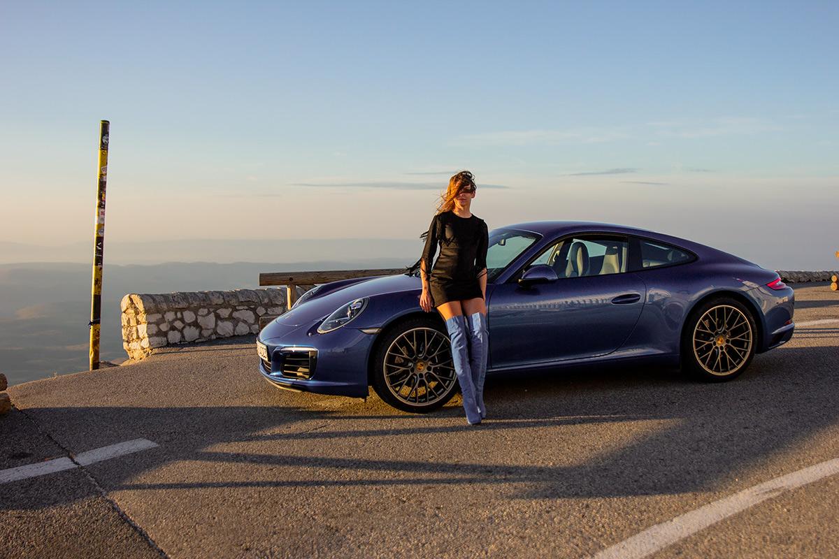 Sara Norris - Porsche road trip