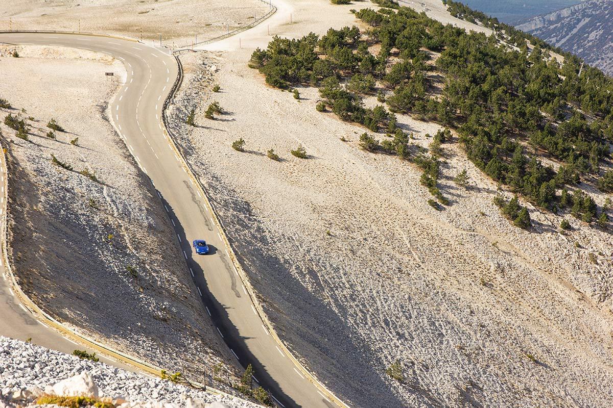Col du Mont Ventoux Porsche drive