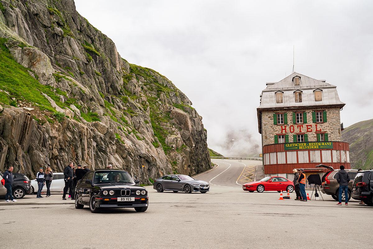 BMW photo shoot Furka Pass
