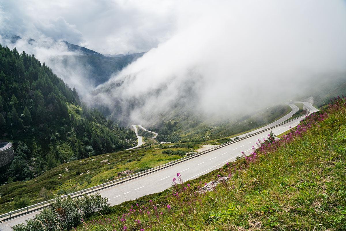 Grimsel Pass road