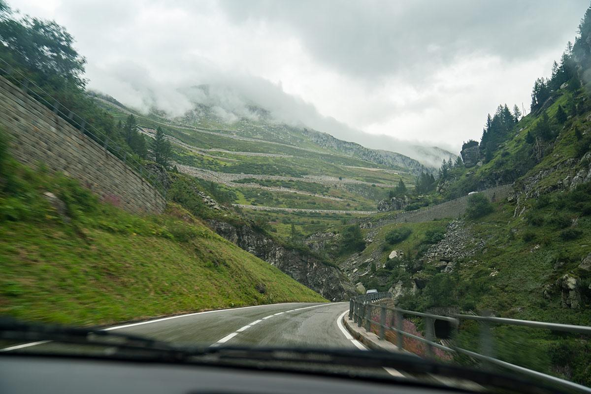 Furka Pass rainy day
