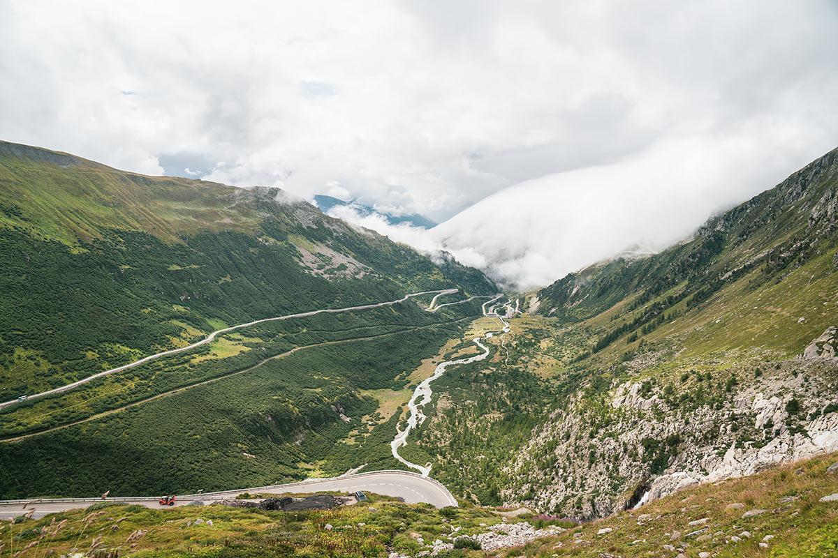 Furka Pass view