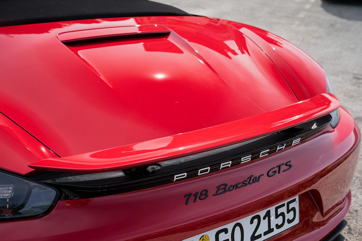 Porsche 718 Boxster GTS rear spoiler