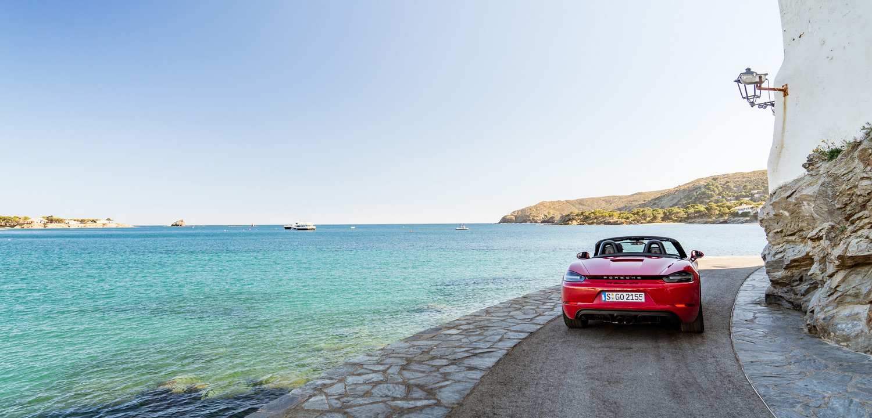 Porsche 718 Boxster GTS in Cadaqués Spain