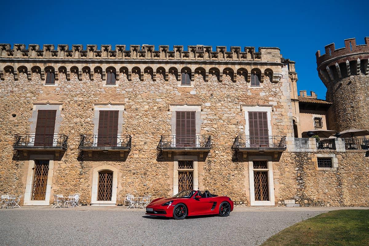 Red Porsche 718 Boxster GTS