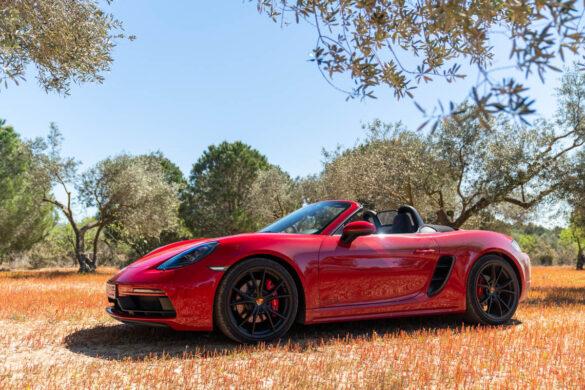 Porsche 718 Boxster GTS in olive grove