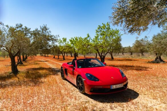 Porsche 718 Boxster GTS in red